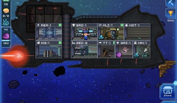 Kapitein van je eigen ruimteschip - Pixel StarShips