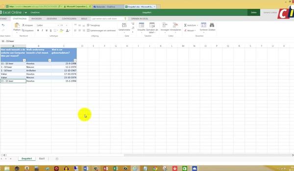 OneDrive: enquete invullen en resultaten