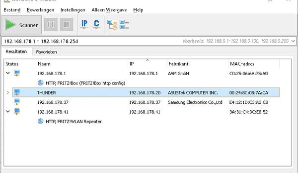 Advanced IP Scanner - Hou je complete thuisnetwerk in de gaten
