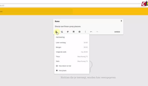 Google Keep: notities maken