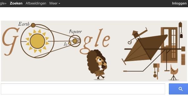 Vaststellen van de lichtsnelheid levert Google doodle op