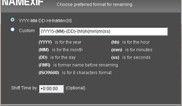NameExif - Foto's hernoemen op basis van exif-data