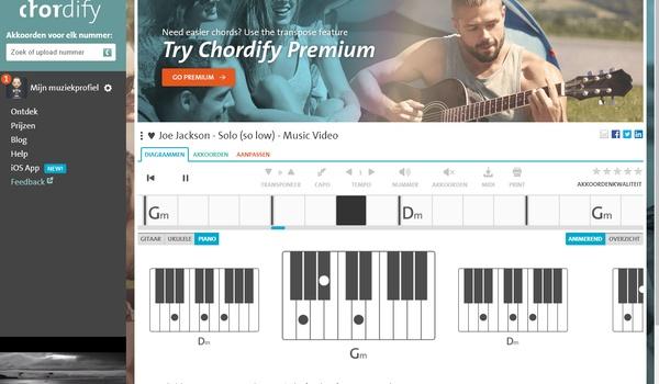 Chordify - Zoek de akkoorden van nummers