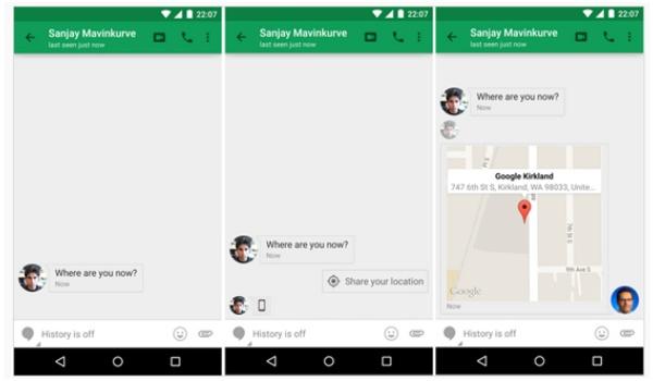 Deel snel je locatie met Google Hangouts-update
