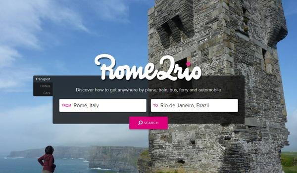 Reizen plannen met Rome2Rio