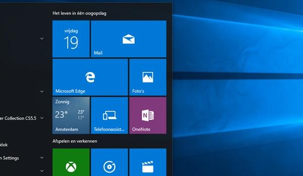 Windows 10: Tips voor het startmenu