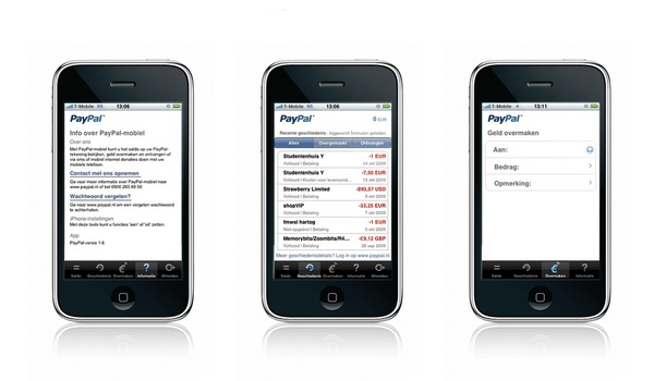 PayPal app voor iPhone en Android
