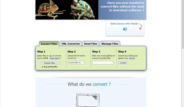 Zamzar - Bestanden converteren in de browser
