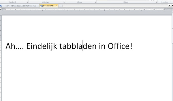 OfficeTab Free - Tabbladen in Office
