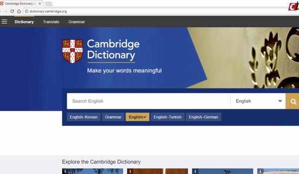 cambridge dictionary online english to english