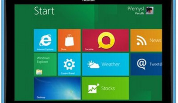 Nokia tablet met Windows 8