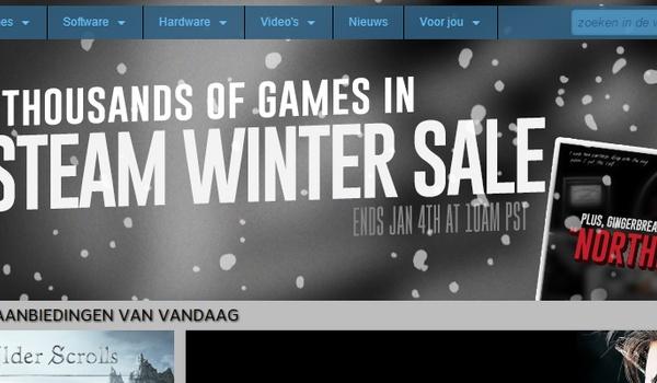 Gameshops houden winter-uitverkoop