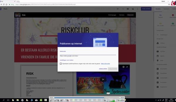 Google Sites: publiceren
