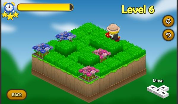 Garden Rush - Maai het gras maar pas op voor de bloemen