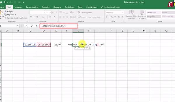 Excel: rekenen met datums en tijd (1)