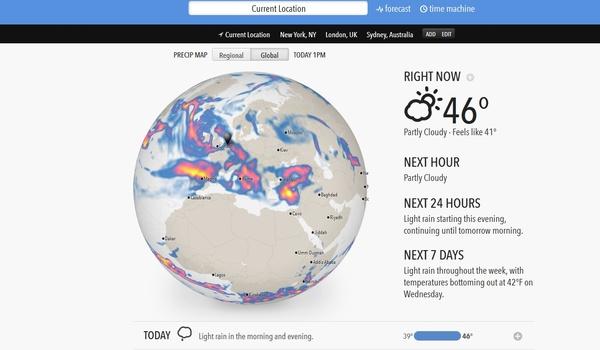 Weersvoorspellingen doen met Forecast.io