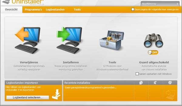 Ashampoo Uninstaller 5 - Ruim rommel van geïnstalleerde programma's op