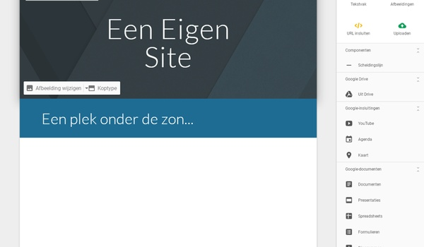 Google Sites - Maak en publiceer je eigen website