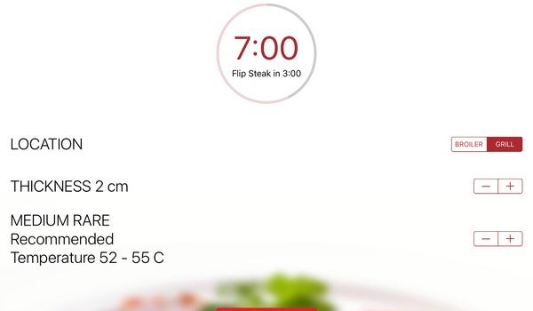 Steak - Handige app om het perfecte stuk vlees te maken