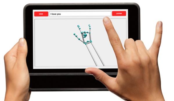 Tabletcase zet gebarentaal om in tekst en spraak