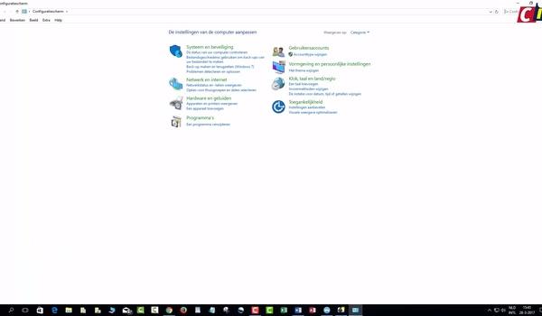 Windows 10 Configuratiescherm