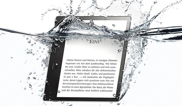 Kindle Oasis nu ook waterdicht