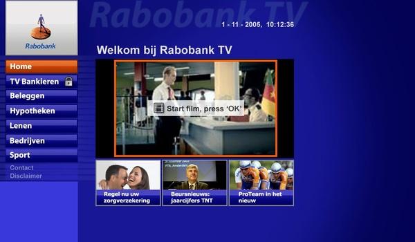 Rabobank-klanten kunnen bankieren via de tv