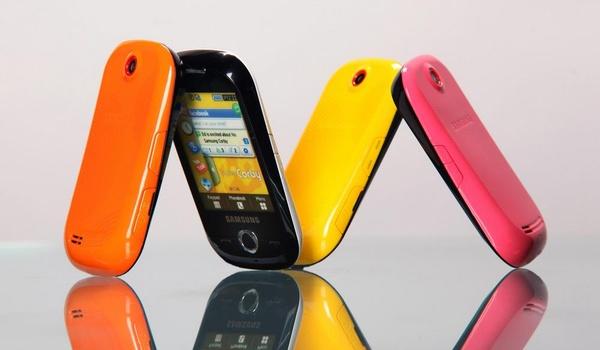 Kakelbonte telefoons van Samsung