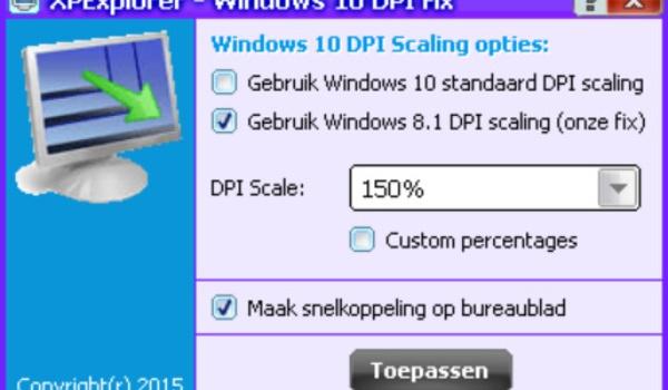 Windows 10 DPI Fix - Oplossing voor te kleine letters