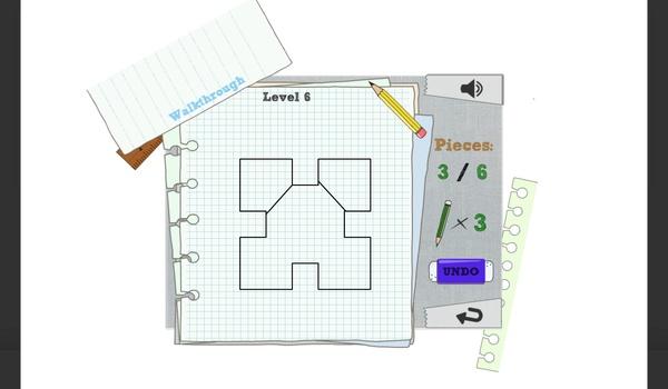 Slice Geom 2 - Verdeel de diguur in het juiste aantal stukken