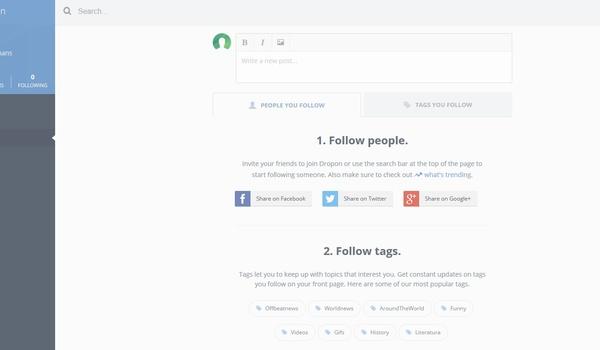 Dropon: Wéér een privacyvriendelijk sociaal netwerk