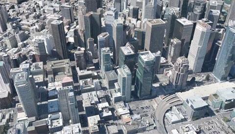 Google Earth 3D city