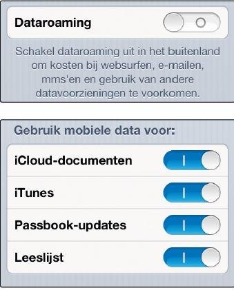 Dataroaming kunt u eenvoudig uitzetten via de schakelaar in iOS
