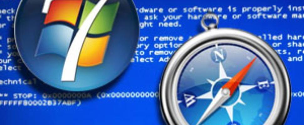 Windows 7 BSOD door Safari-lek