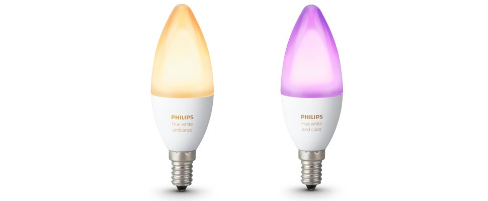 Philips Hue Candle heeft kleine fitting