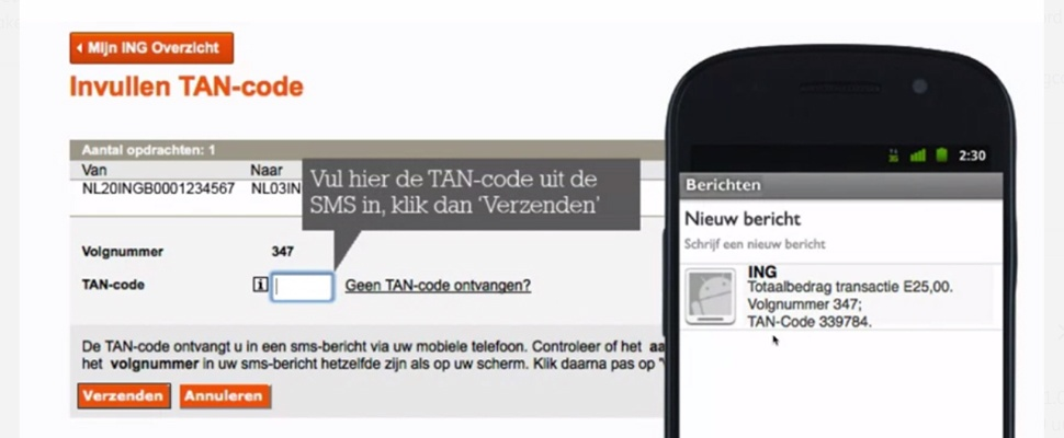 Einde ING TAN-codes in zicht