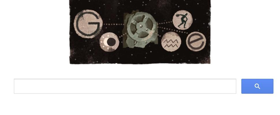 Google doodle biedt antwoord op de vraag 'wat is het mechanisme van Antikythera?'