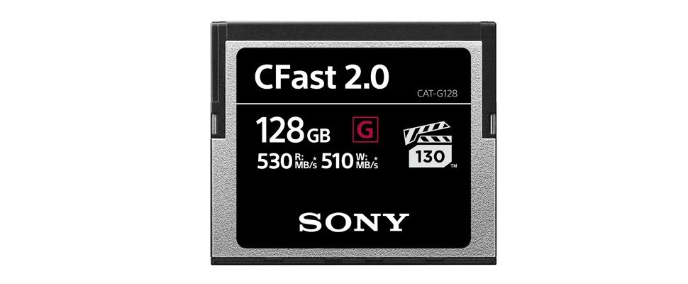 Geheugenkaartjes Sony voor snelle 4K-overdracht