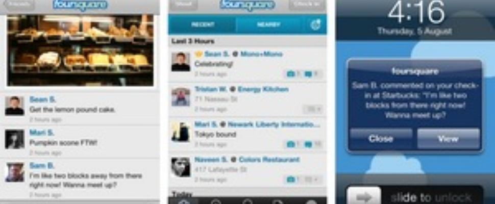 Nu ook foto's en reacties op Foursquare