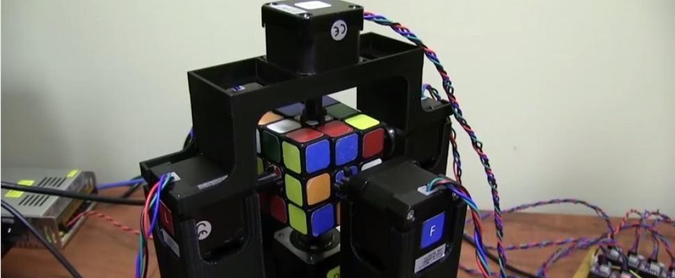 Robot lost Rubik's Cube in één seconde op