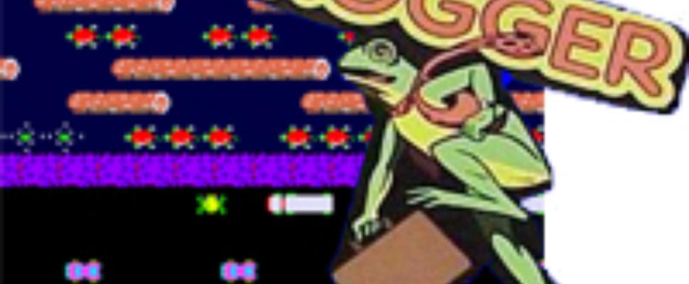 Man aangereden door het naspelen van het spel Frogger