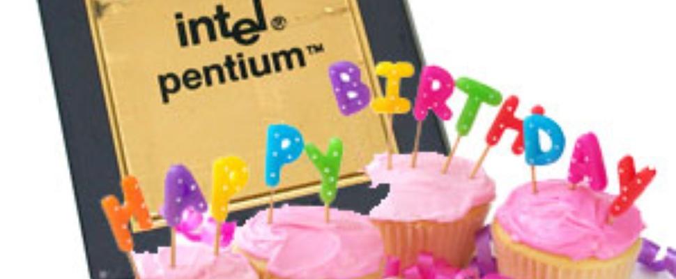 Pentium viert 20ste verjaardag