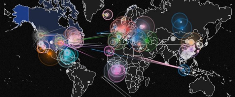 Wie hackt wie: een wereldkaart vol hackpogingen