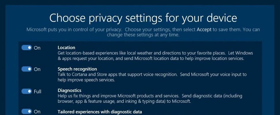 Privacy-instellingen Windows 10 worden overzichtelijker