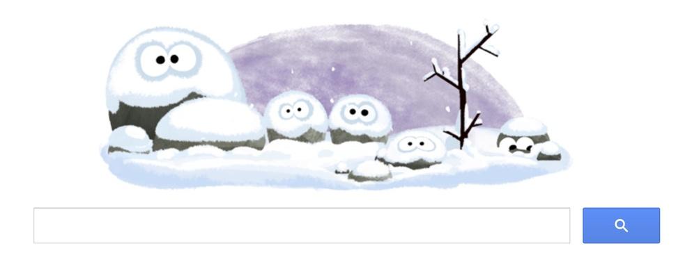 Eerste dag van de winter gevierd met een Google Doodle