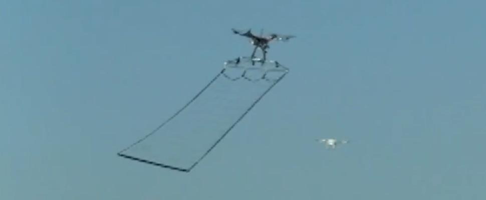 Japanse politie vangt drones met… vangnetdrones