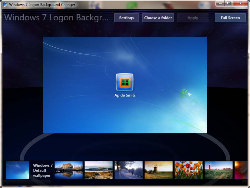 Windows 7 Logon Background Changer Gratis Downloaden