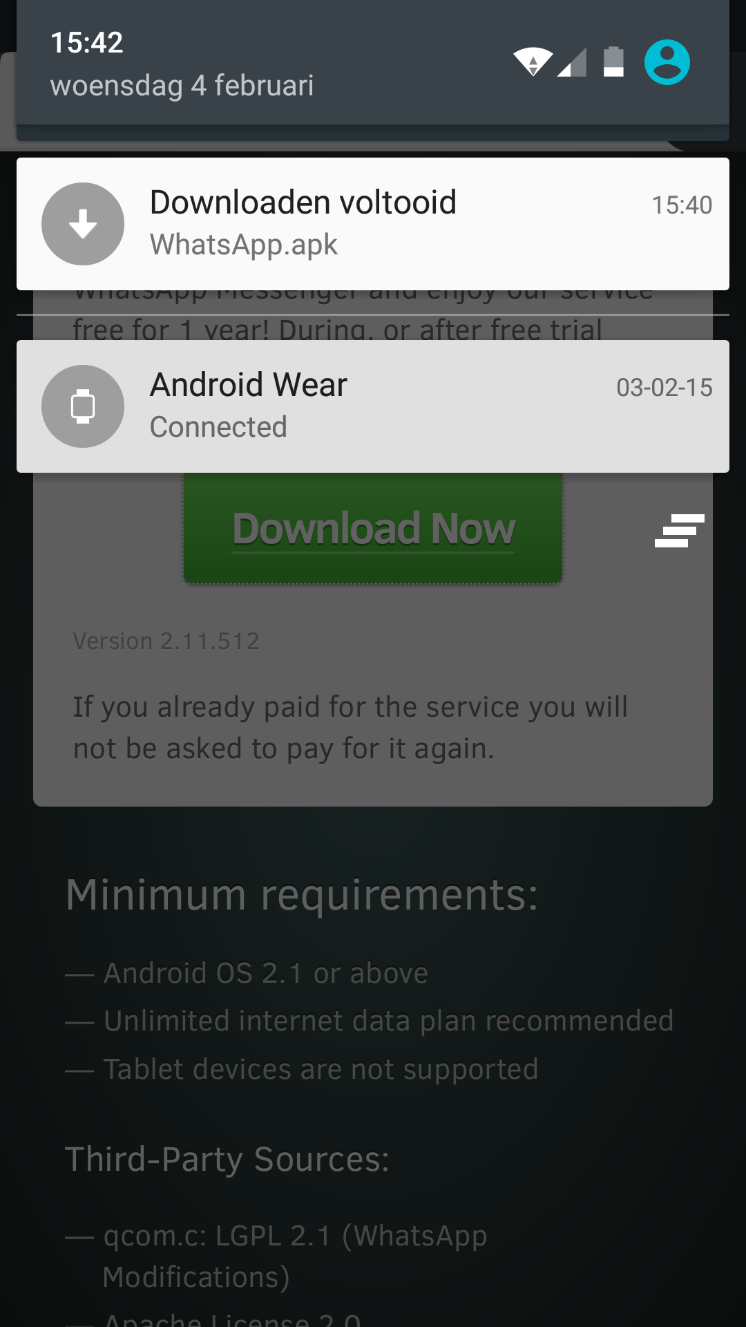 Whatsapp android 5.1 apk download