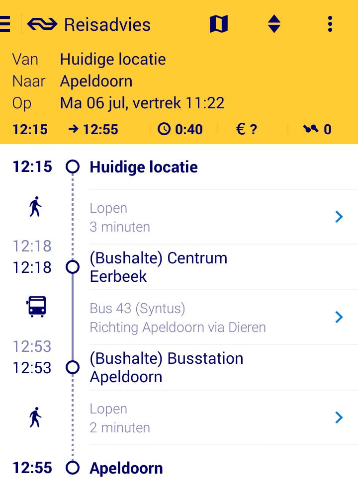 reis trein plannen