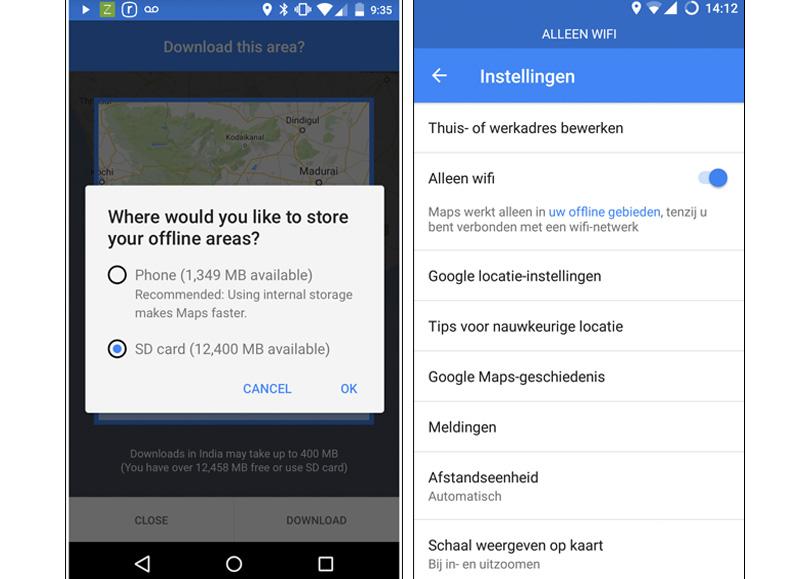 kaarten downloaden google maps